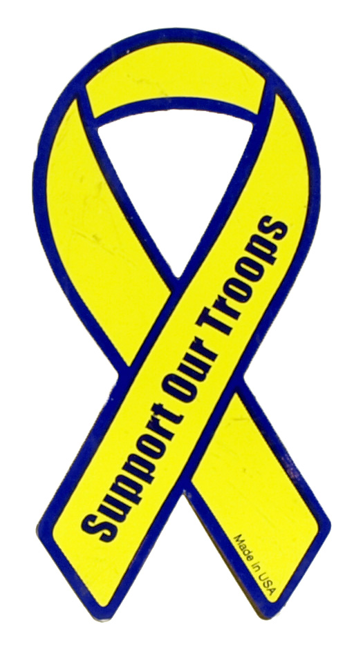 ''4'''' Support Our Troops MAGNET - Yellow''