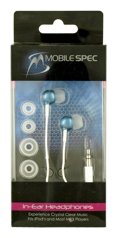 MobileSpec In-Ear HEADPHONES - Blue