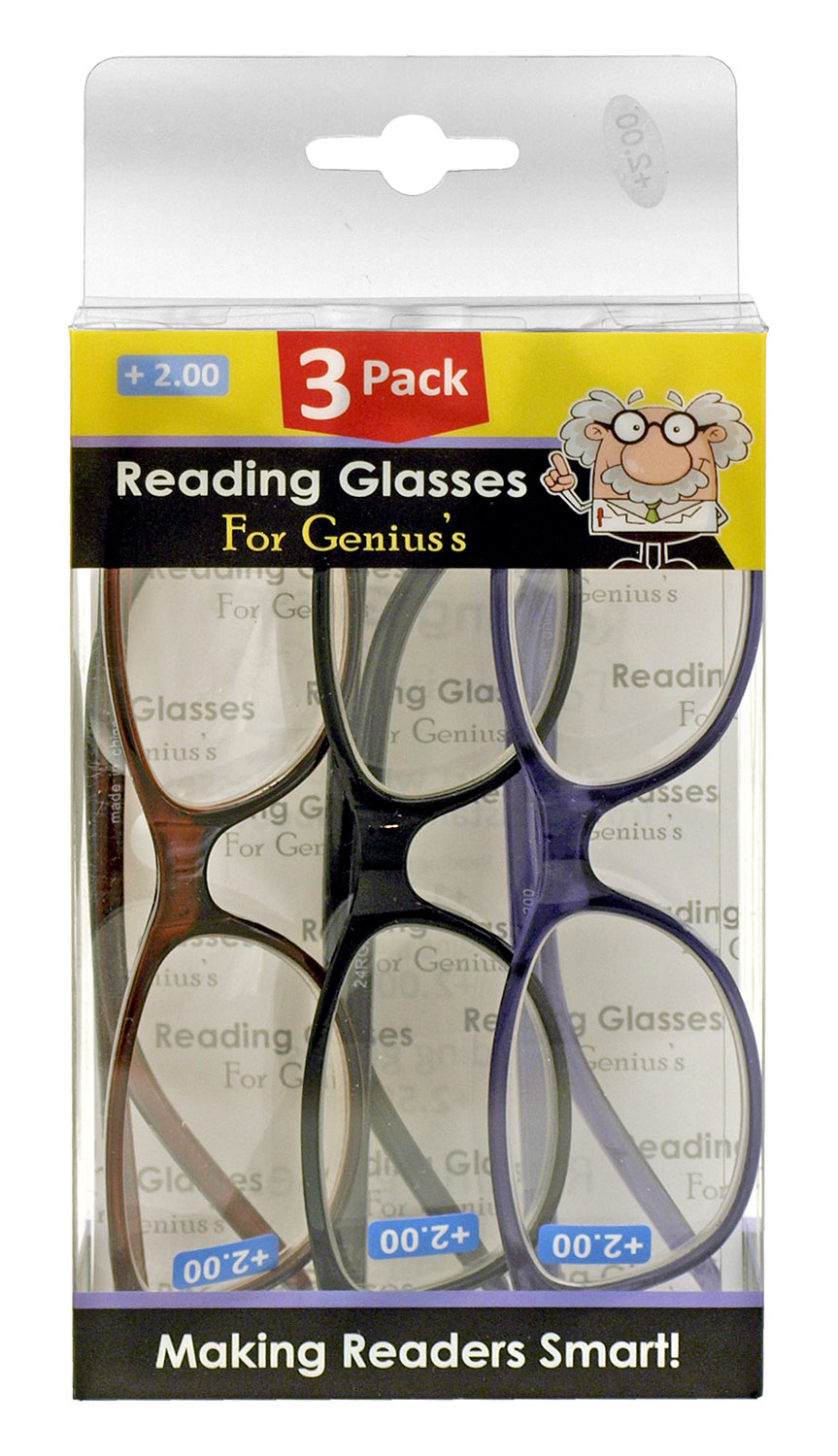 3 - pk. Reading EyeGLASSES - (Assorted Strength and Styles)