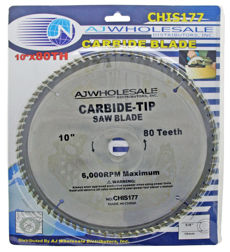 ''10'''' x 80 Tooth Carbide Blade Circular SAW''