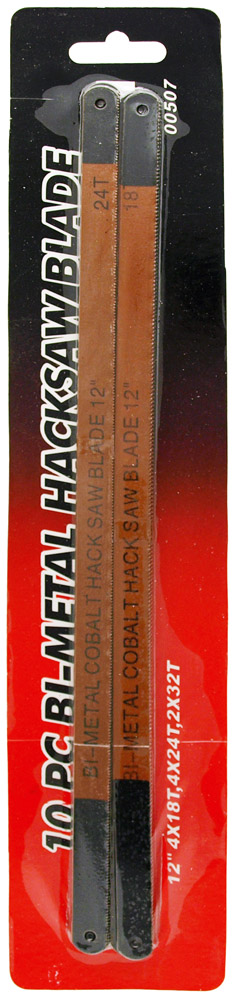 10-pc. Bi-Metal HackSAW Blades