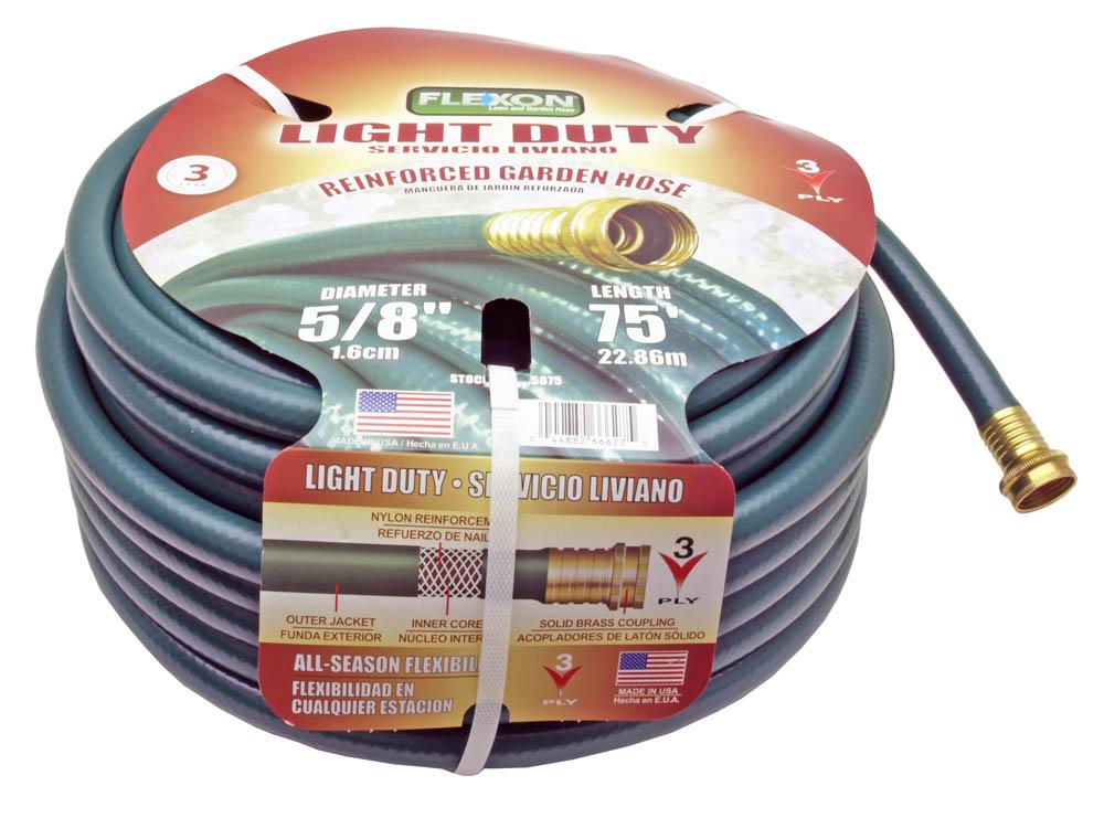 5 8 X 75 39 Flexon Light Duty Garden Water Hose