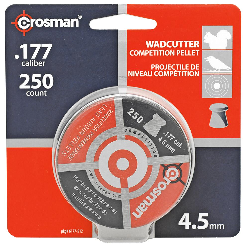 250-pc. Crosman Wadcutter High Grade 4.5mm .177 Caliber Pellets