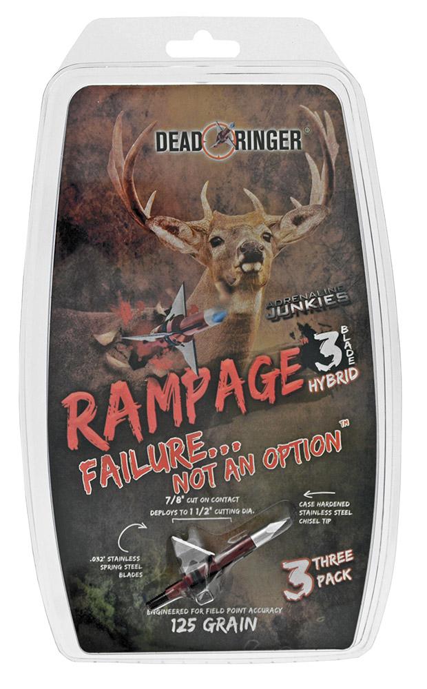''3-pc. Rampage 125 Grain 3 Blade Broadhead - 1-1/2''''''