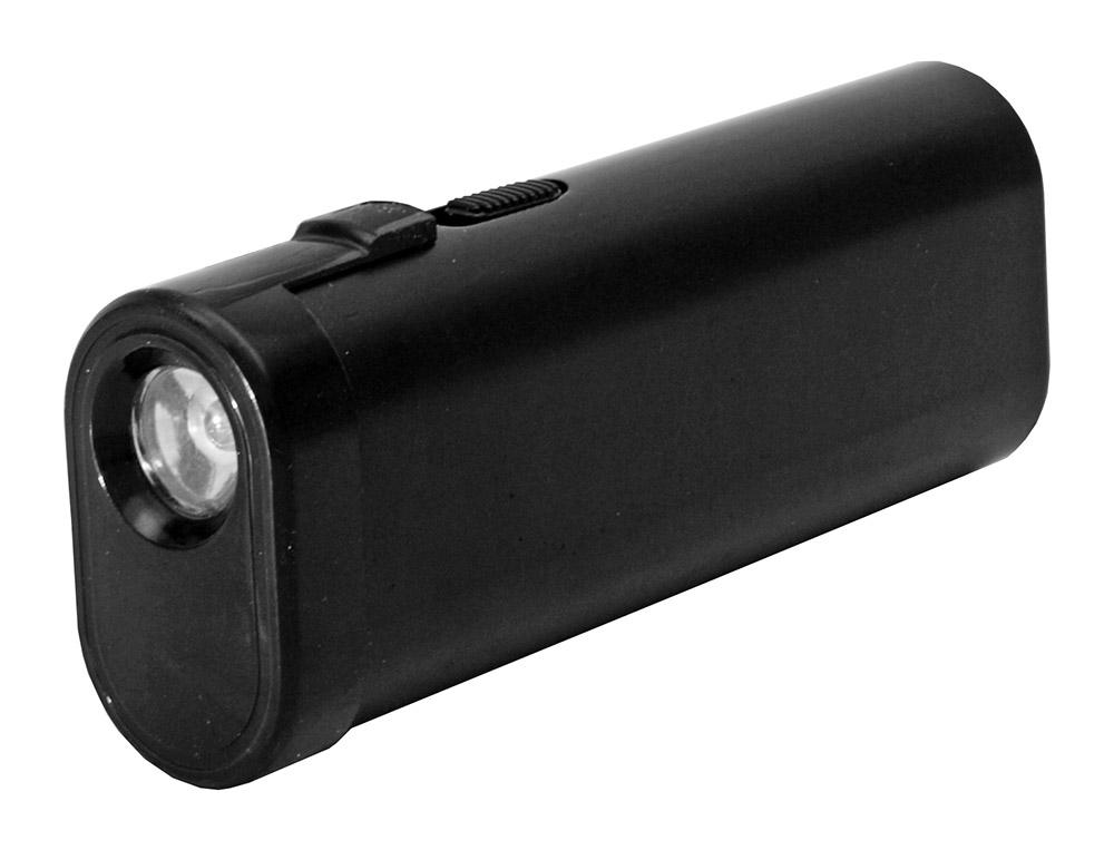 Power Bank Stun Gun Flashlight - Black