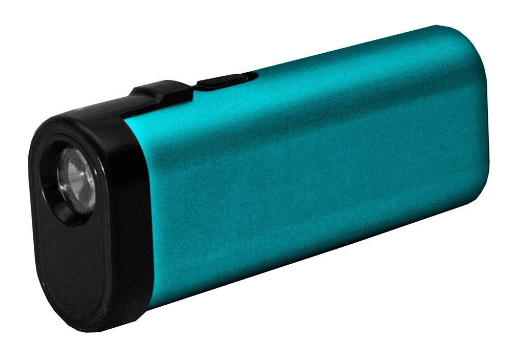 Power Bank Stun Gun Flashlight - Blue