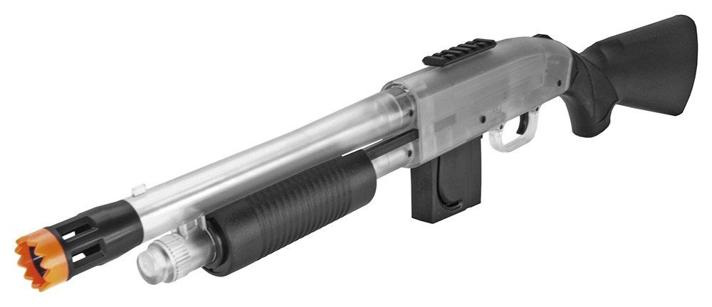 Mossberg Chainsaw Spring Powered Pump Airsoft Shotgun in Clear