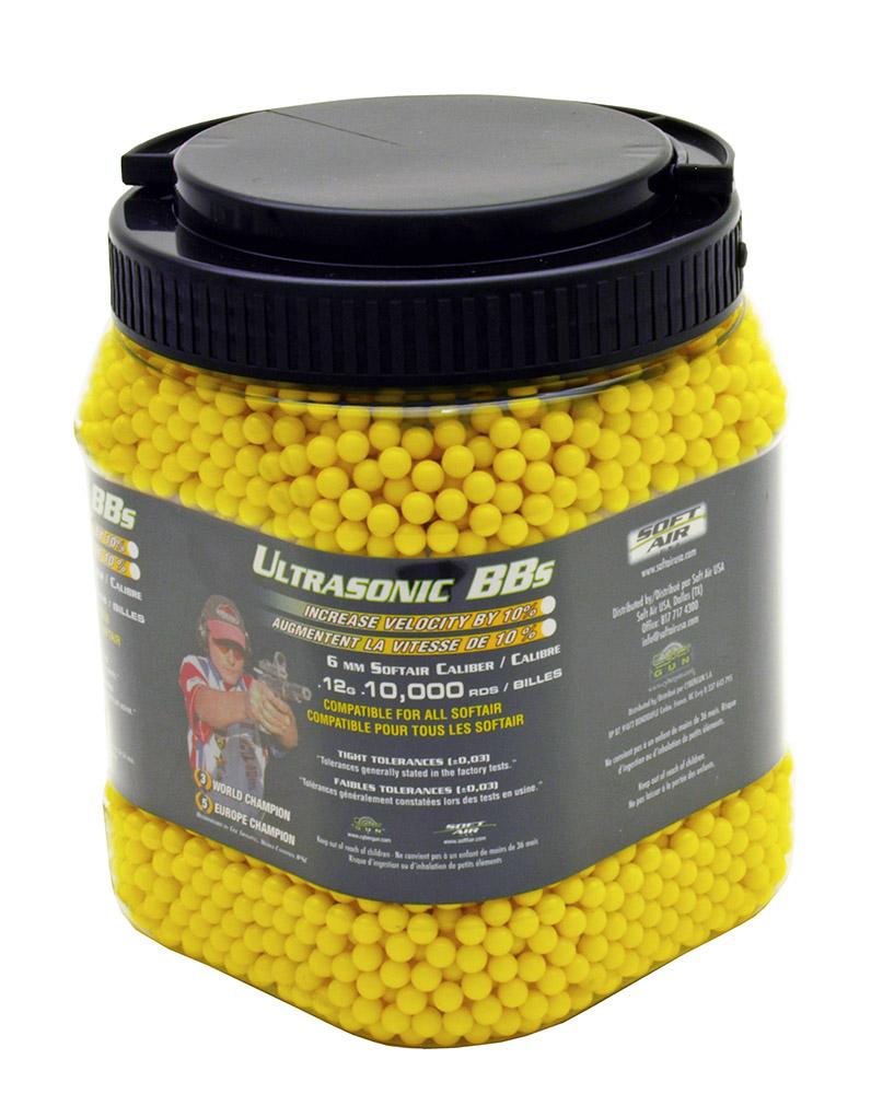 ''10,000-pc. Ultrasonic .12g AIRSOFT BB's - Yellow''