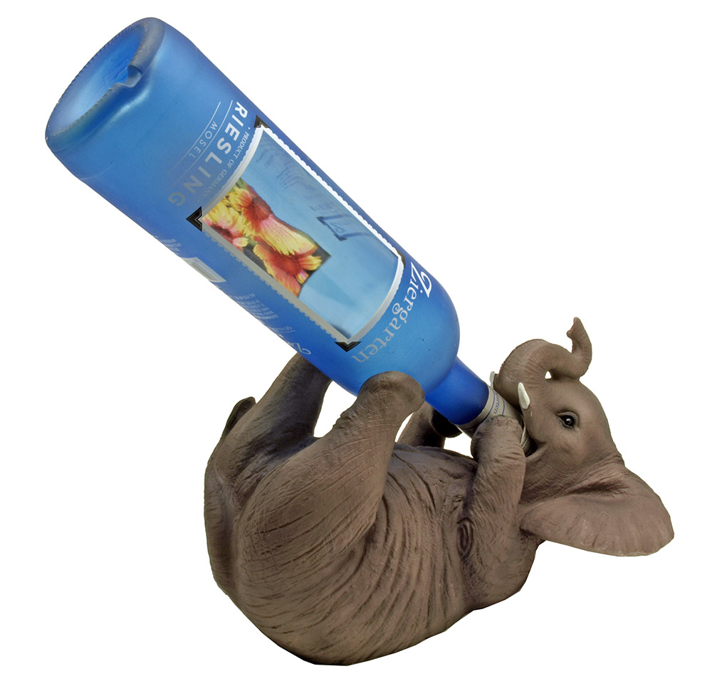 Wholesale wine holder now available at wholesale central - Elephant wine bottle holder ...