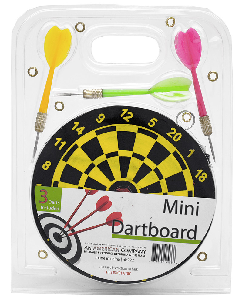 ''Mini 6'''' DARTBOARD w/ 3 Darts''