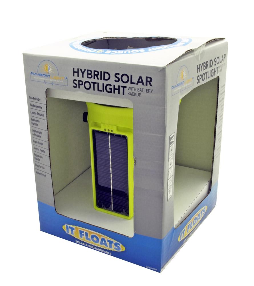 200 Lumen Hybrid SOLAR Power Waterproof Flashlight