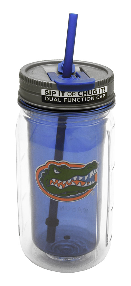 16-oz Florida Mason Jar Water Bottle