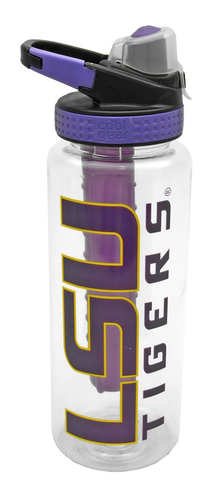 32 Oz Lsu Water Bottle With Freezer Stick
