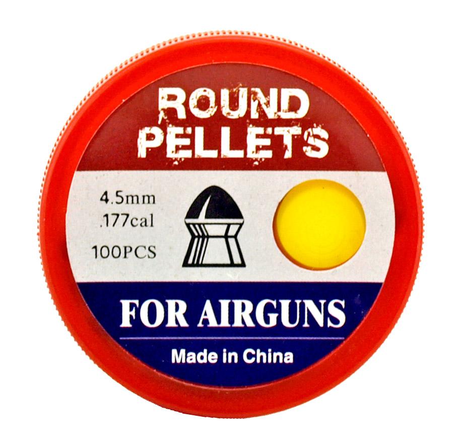 100 - pc. .177 Caliber Round Pellets