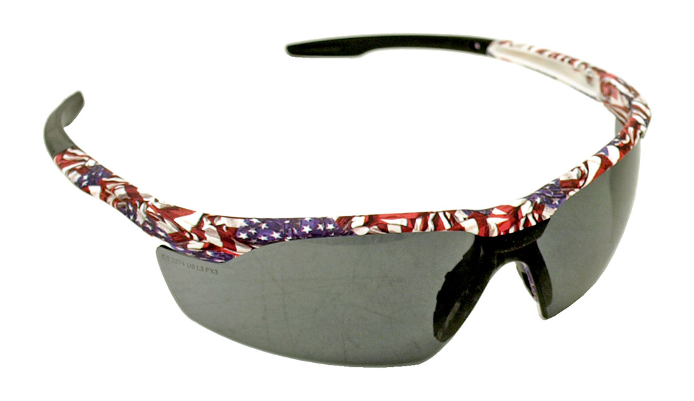 American Flag Safety GLASSES - Tinted