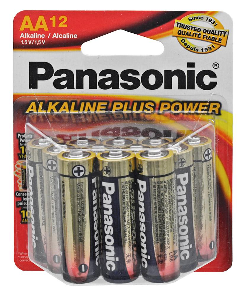 ''12-pc. Panasonic Alkaline ''''AA'''' BATTERIES''