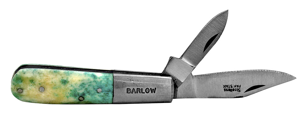 ''3.5'''' Double Blade POCKET KNIFE - Green''