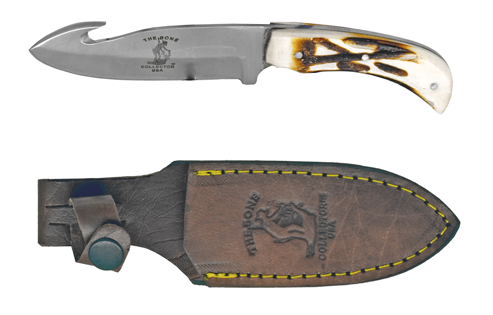 ''7-1/4'''' Bone Collector Knife With LEATHER Sheath''