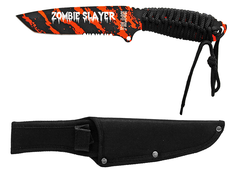 ''10'''' Zombie Slayer KNIFE - Orange''