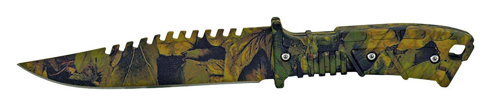 ''10'''' Hunting KNIFE - Woodland Camo''
