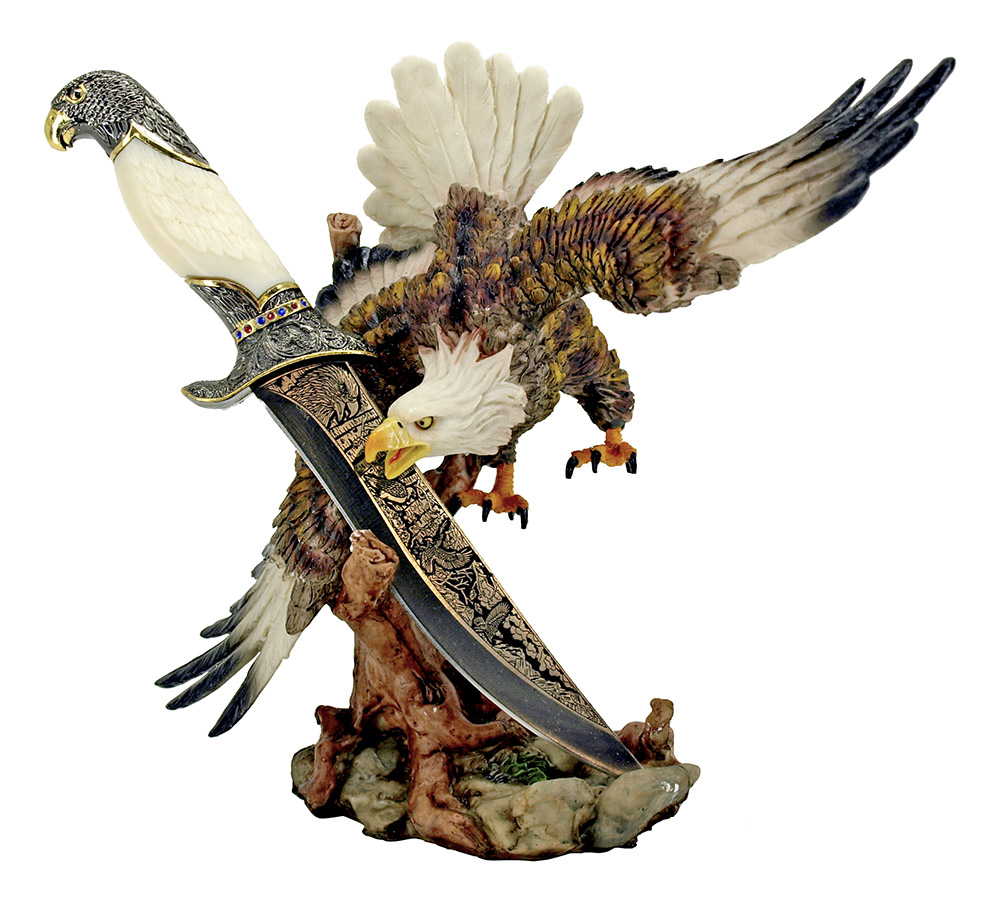 ''11'''' Eagle Statue with Decorative KNIFE''