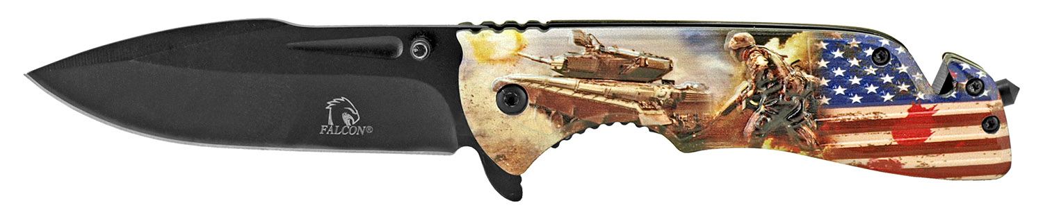 ''5'''' 3D Printed Rescue KNIFE - Army''