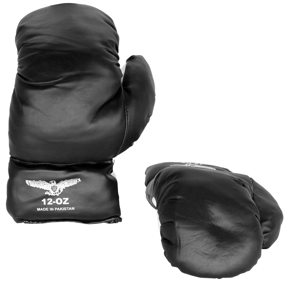 12-oz Synthetic Leather Boxing Gloves