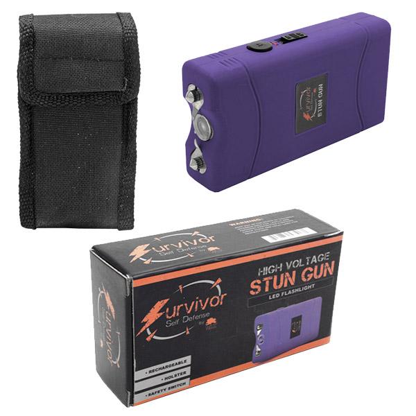 Survivor High Voltage Stun Gun - Purple