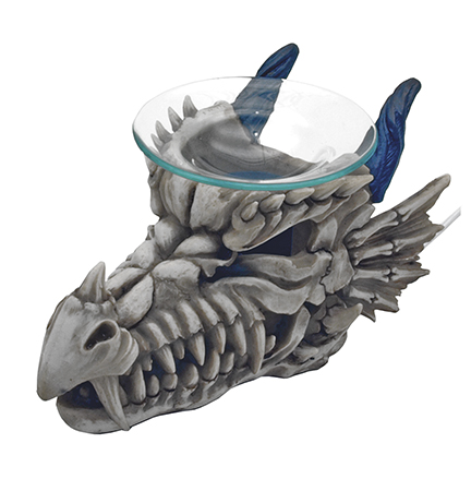 Ancient vapors dragon skull oil warmer - Dragon oil warmer ...