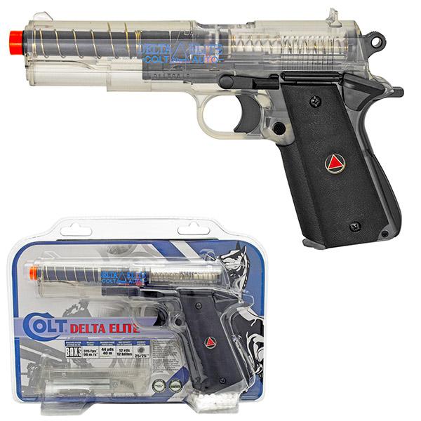 Colt Delta Elite Spring Airsoft Pistol W Target Clear
