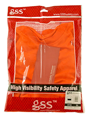 High Visibility ANSI Safety T-Shirt with Black Bottom - Extra Large