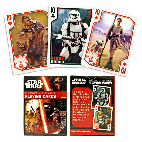 Star Wars The Force Awakens Villains Playing Cards Deck