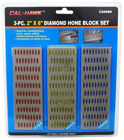 ''3-pc. 2'''' x 6'''' DIAMOND Hone Block Set''