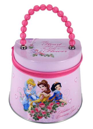 Disney Princess Zipper Tin PURSE